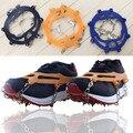 10 Dentes Garra Ice Gripper Aço Manganês Crampons gelo Caminhadas antiderrapante sapatos de escalada da neve ice shoe spikes cadeia l m tamanho