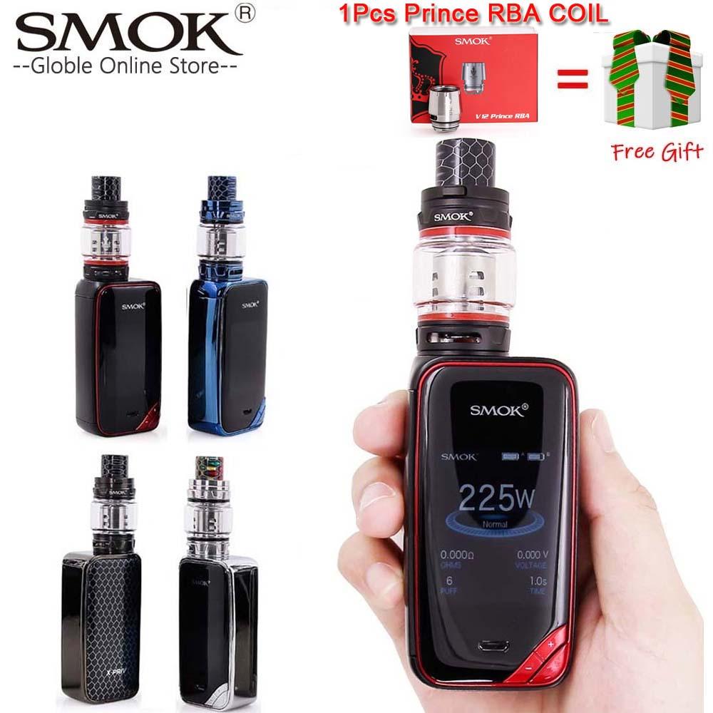Hot Sale SMOK X-PRIV Kit with 225W X PRIV Mod and 8ml TFV12 Prince Tank Vaporizer Electronic Cigarette SMOK Vape Kit VS SMOK Mag