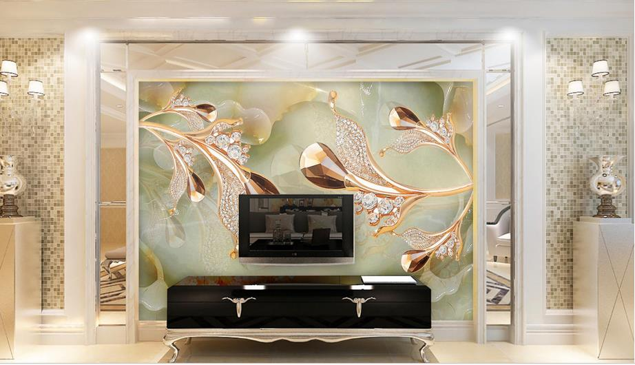 European style 3d wall murals Jewelry jewelery 3d mural wallpaper living room bedrooms TV backdrop luxury wallpaper european 3d wallpaper moroccan style wall stickers waterproof kitchen toilet decoration classical pattern living room murals