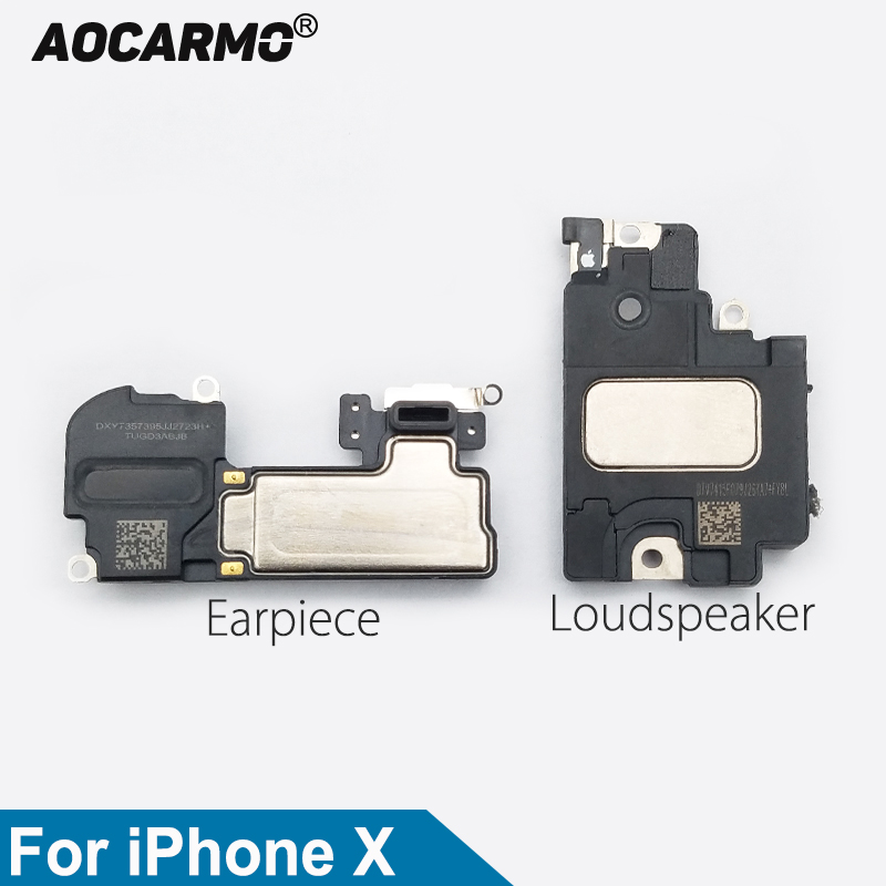 Aocarmo Top Earpiece Ear Speaker Bottom Loudspeaker Buzzer Ringer For IPhone X 10 Replacement Part