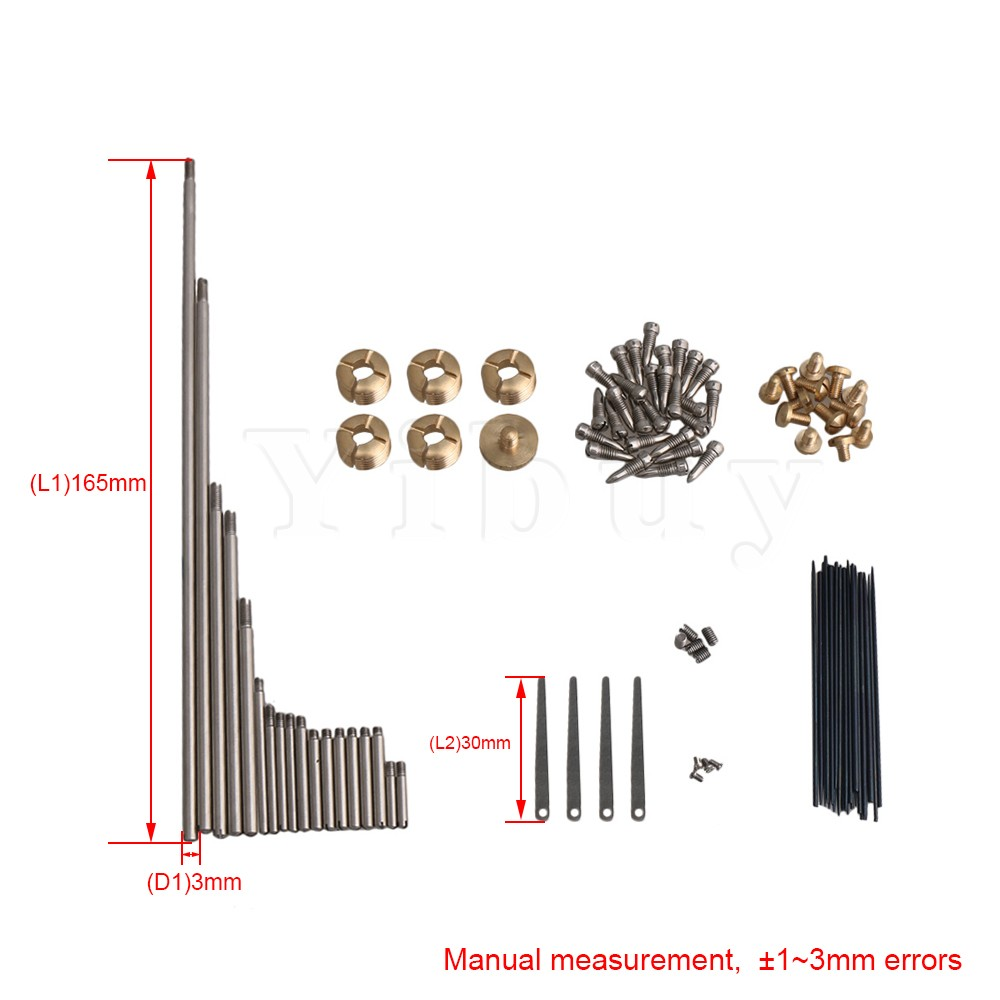 Yibuy DIY Alto Saxophone Repair Parts Maintenance Kit Screws and 18pcs Key  Shafts Woodwind Instrument Accessory Type E -in Parts & Accessories from  Sports ...