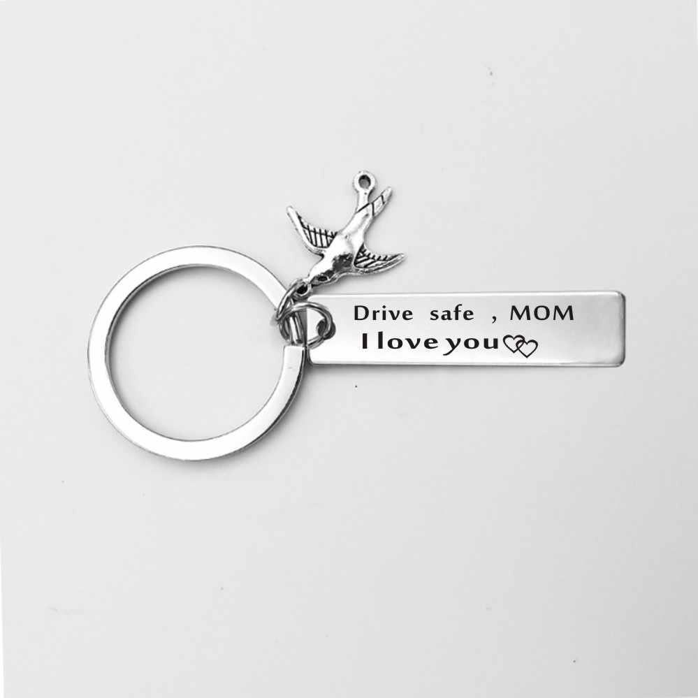 4c92ace843 ... Suteyi Drive Safe Keychain Stainless Steel Family Gift to Grandpa  Grandma Dad Mom Brother Sister Husband ...