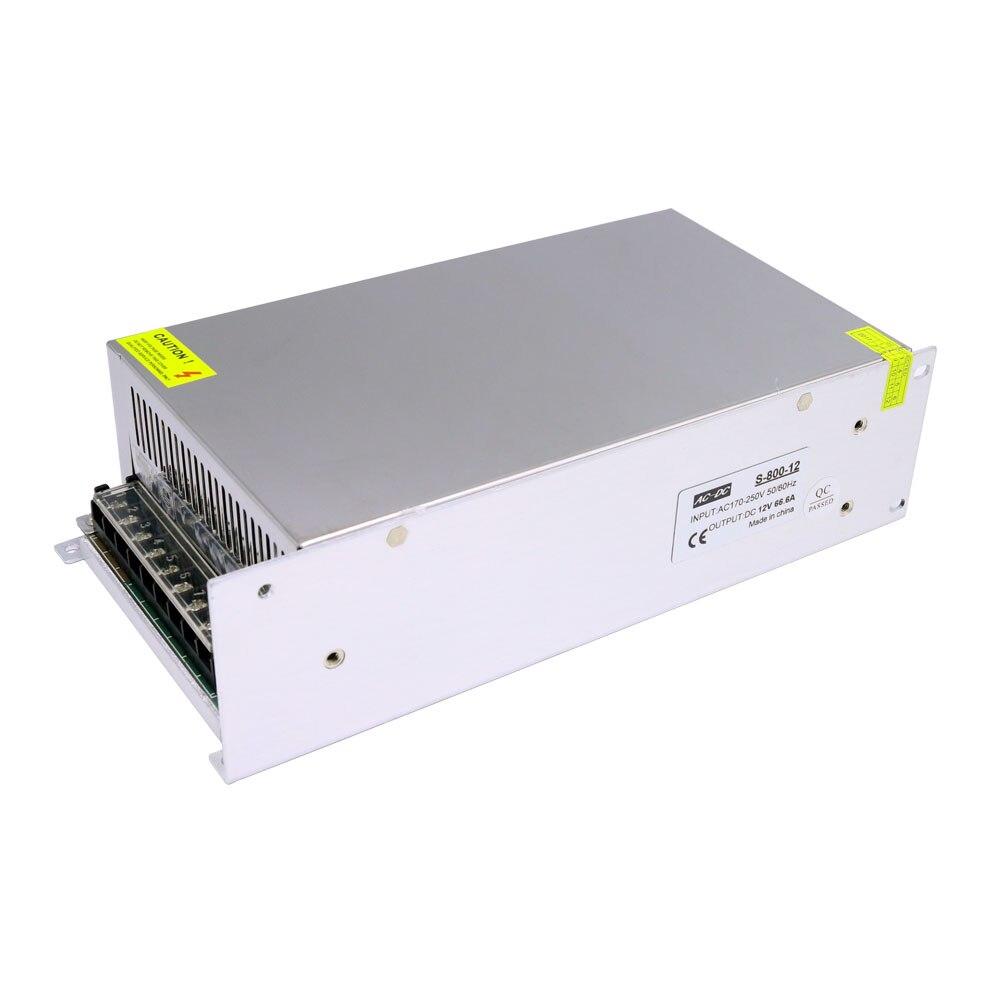 DC12V 66.6A 800W Lighting Transformers LED Driver Power Adapter for LED Strip DC12V 66.6A 800W Lighting Transformers LED Driver Power Adapter for LED Strip