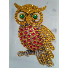 Special Shaped Diamond Painting Owl Handicraft Needlework 3d Drill Mosaic DIY Embroidery Animal 20x30CM
