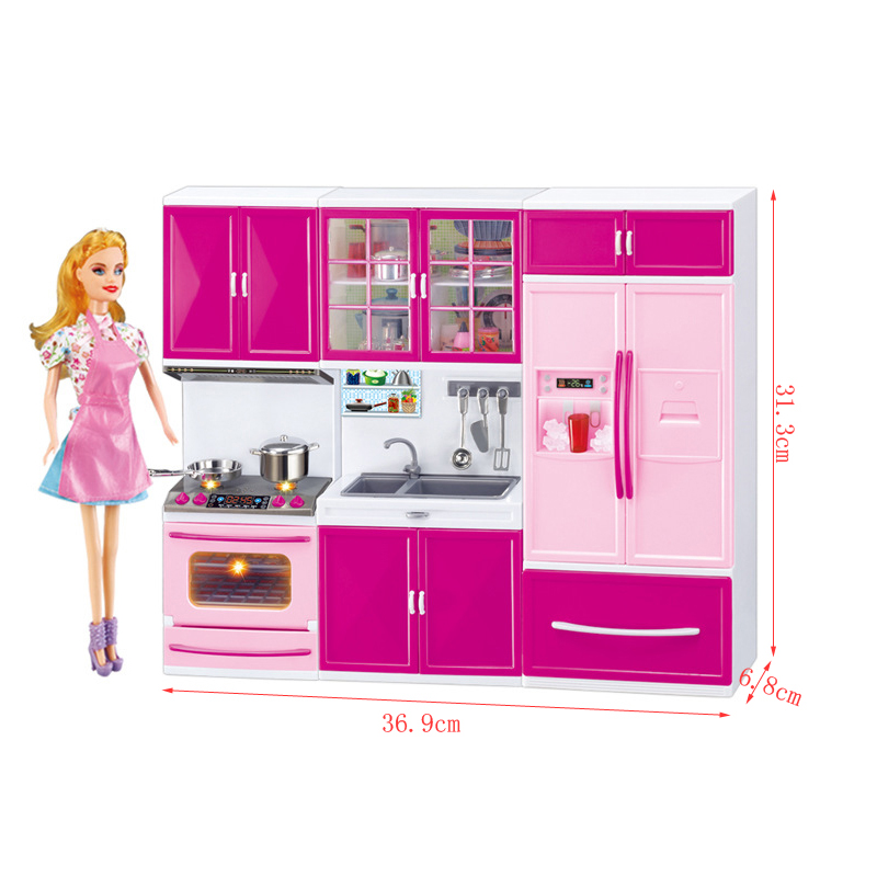 <font><b>Kitchen</b></font> <font><b>Toys</b></font> Kids Pretend Role Play <font><b>Toy</b></font> <font><b>Set</b></font> New Role Play <font><b>Kitchen</b></font> <font><b>Toy</b></font> Play <font><b>Set</b></font> <font><b>Toy</b></font> Pretend Play <font><b>Kitchen</b></font> for Children with Dolls image