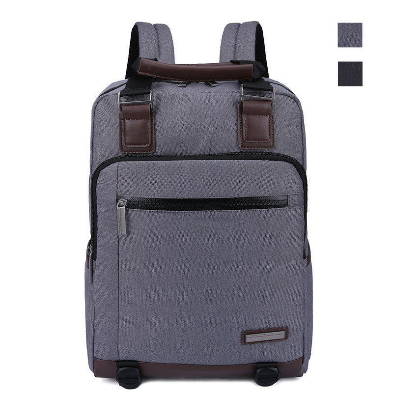 Prince Travel 15 inch Business Travel Backpack with Leather Black Handbag Men School Laptop Bag for Lenovo Macbook ASUS Acer HP 14 15 15 6 inch flax linen laptop notebook backpack bags case school backpack for travel shopping climbing men women