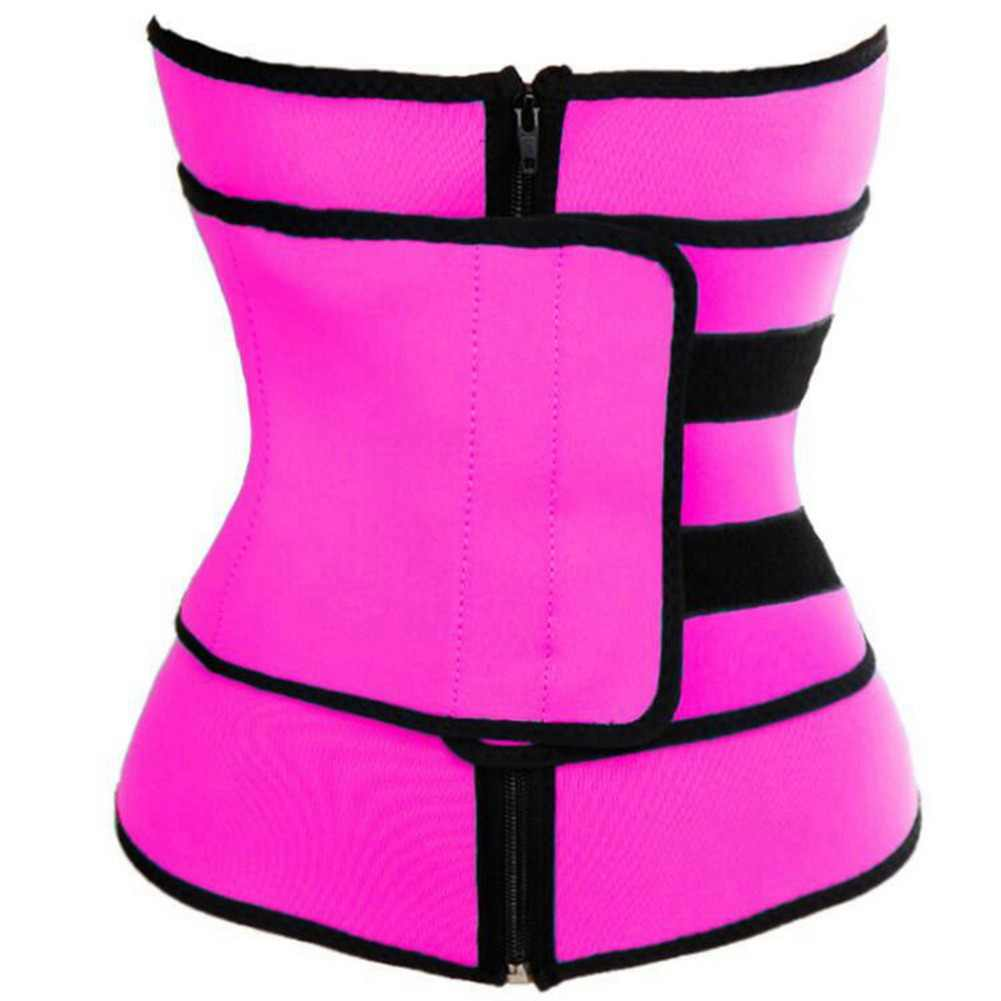 f338972460f66 Waist Trainer with Zipper Modeling Strap Women Tummy Shaper Body Shapewear  Steel Boned Slimming Belt Neoprene