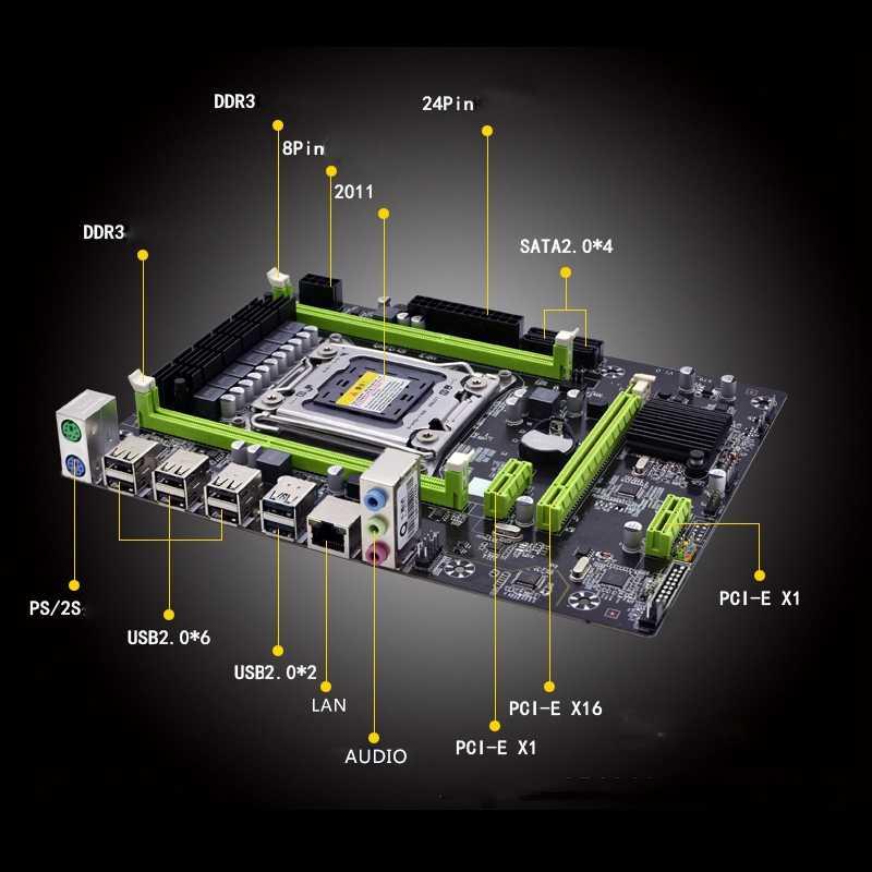 X79M Pro のマザーボードインテル Lga 2011 E5 2640 2650 2660 2680 Ddr3 1333/1600/1866Mhz 32 ギガバイト M.2 Pci-E M-Atx マザーボード