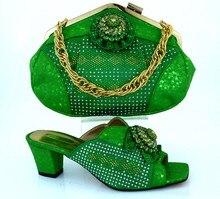 Бесплатная Доставка, MM1011 Зеленый 2016 Итальянская Обувь С Сопрягая Мешки Для Партии, Африканские Обувь И Сумки, Установленные для свадьба
