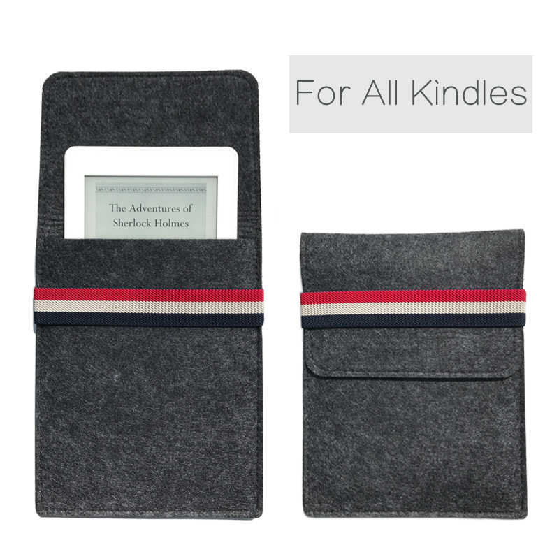 7de4f50e3bd9a Case For Amazon Kindle Paperwhite 1/2/3 Bag for General Felt Cover For  Kindle 8th Generation 6 inch Ebook pouch Tablet sleeve