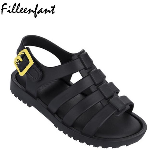 Plástico jalea Zapatos para niños Niñas Sandalias minicrystal Zapatos Roma  gladiador Sandalias verano cute Beach Zapatos 246aa6d9ff411