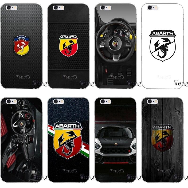 Italie sport voiture abarth logo mince silicone souple téléphone étui pour iphone X 8 8plus 7 7plus 6 6s plus 5 5s 5c SE 4 4s