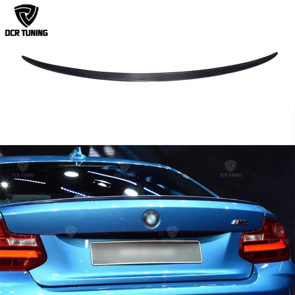 M2 Style For BMW 2 Series F22 F23 F87 M2 Carbon Fiber Rear Trunk Spoiler 220i M235i 228i 218i 225d 2014 2015 2016 - UP for bmw f20 spoiler ac style bmw 1 series f20 f21 carbon fiber rear roof spoiler 116i 120i 118i m135i 2014 2015 2016 2017