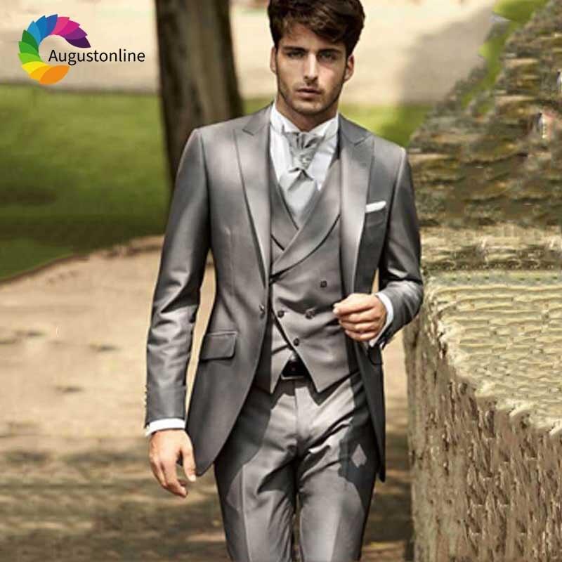Italian Men Suit Vintage wedding suits for men Classic Groom Tuxedo (1)