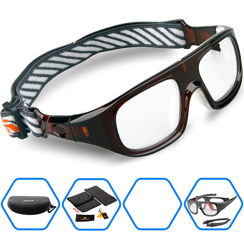 482fb152a7e9 2017 Protective Men Sports Eyewear Glasses Goggles for Basketball Soccer  Football Rugby Tennis Hockey Myopia Frame Gear