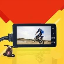 Moto di Guida Video Recorder HD LCD con la Parte Anteriore e Videocamera vista posteriore 140 Gradi Ampio Angolo di Visione Notturna di Sostegno