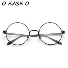 2017 neue Retro Vintage Plain Brillen Sicherheit Legierung Gläser Voller Rahmen Runde Optischen Rahmen Unisex 9043