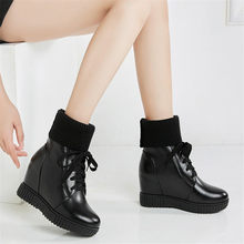 Trainers Shoes Womens Lace Up Knitting High Heel Ankle Boots Winter Warm Pumps Wedges Platform Punk Creepers Shoes Sneaker Shoes цены