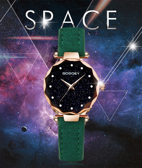 2019 Luxury Brand Gogoey Women Watches Personality romantic starry sky Wrist Watch Rhinestone Design Ladies Clock 3
