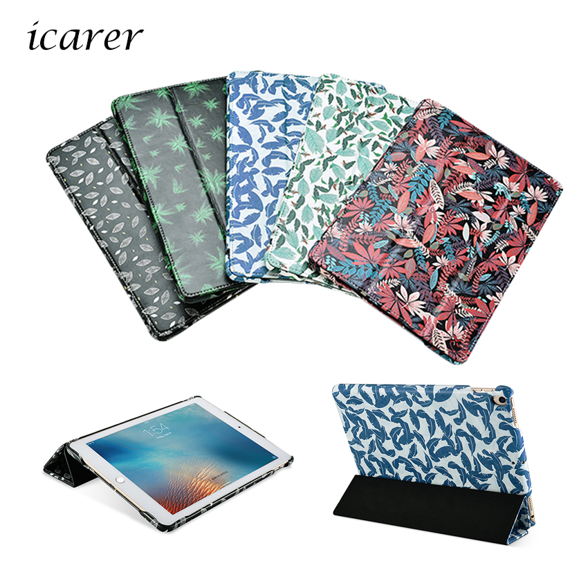 For iPad Pro 10.5 2017 PU Leather Case Cover Slim Protective Stand Skin For Apple iPad 10.5 inch Cases Flower Print Sleeve Shell