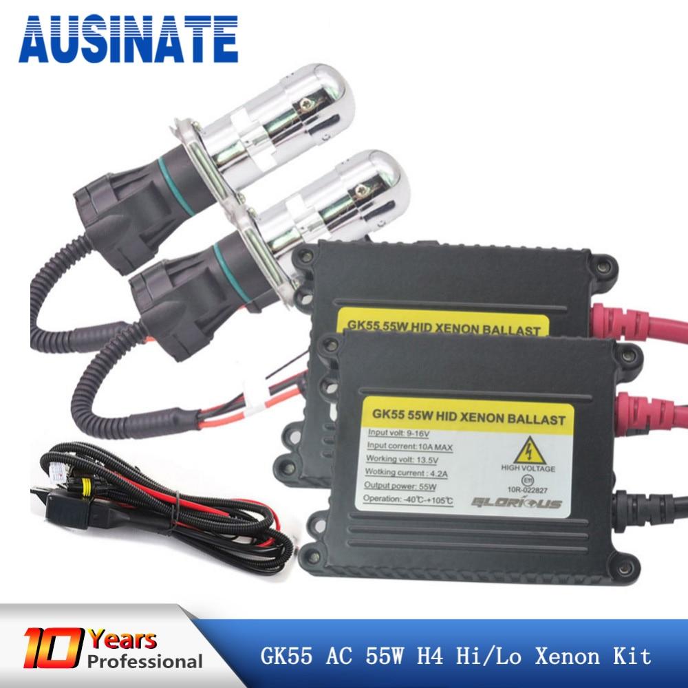 12 V 55 W H4 Bi lampe au xénon kit H4 hid salut lo BI-XENON ampoule 55 W 6000 K 8000 K 4300 K H4 Bi xenon kit