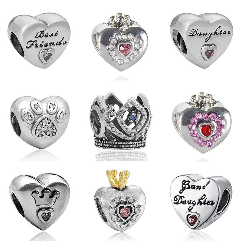 Pulsera de plata de ley con abalorios para mujer, joyería original, para el Día de San Valentín, joyería