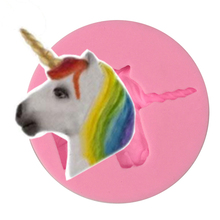 Free Shipping Cute Unicorn Silicone Fondant baking Paste Mold DIY Cake Decorating Polymer Clay Resin Candy Fimo Super Sculpey стоимость