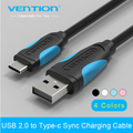 Vention New USB 2.0 Type-C data charging cable 0.5m/1m/1.5m/2m for Letv le1 Pro MAX X600 X900 Smartphone MacBook Nokia N1