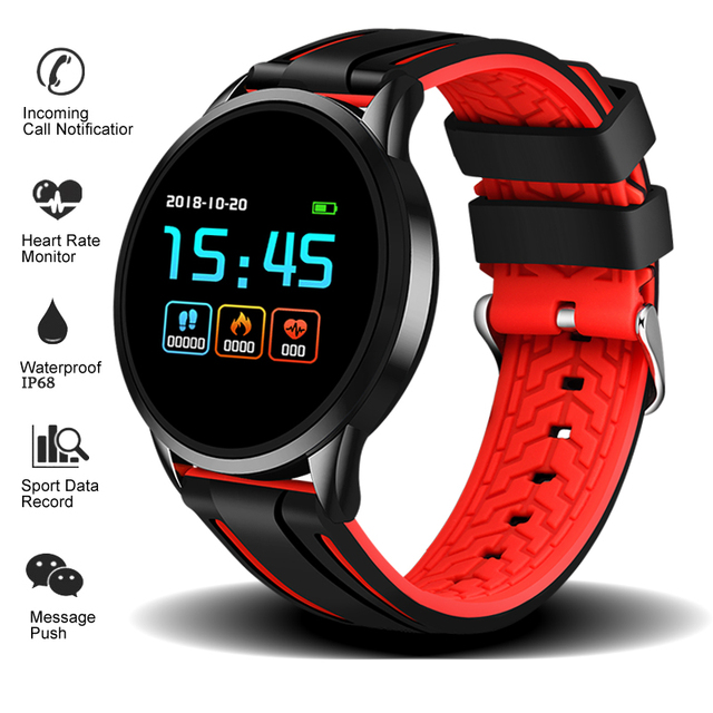 LIGE 2019 New listing Sport Smart Bracelet Heart rate Blood pressure Monitor Smart Watch Men Women Fashion Smart Wristband+Box