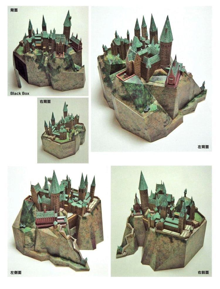Купить с кэшбэком 50cm Movie Series Castle with 3D Building Architecture Manual DIY Educational Christmas Gifts for children