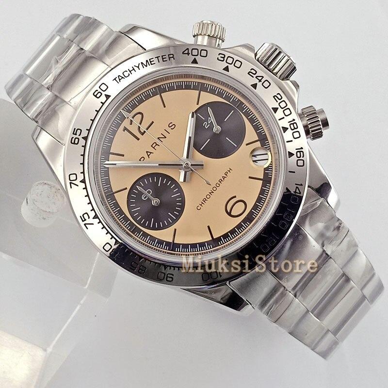 39mm yellow sapphire glass quartz Chronograph automatic mens mode faux chronographe Classique pour Cristaux Montres montre Cadea