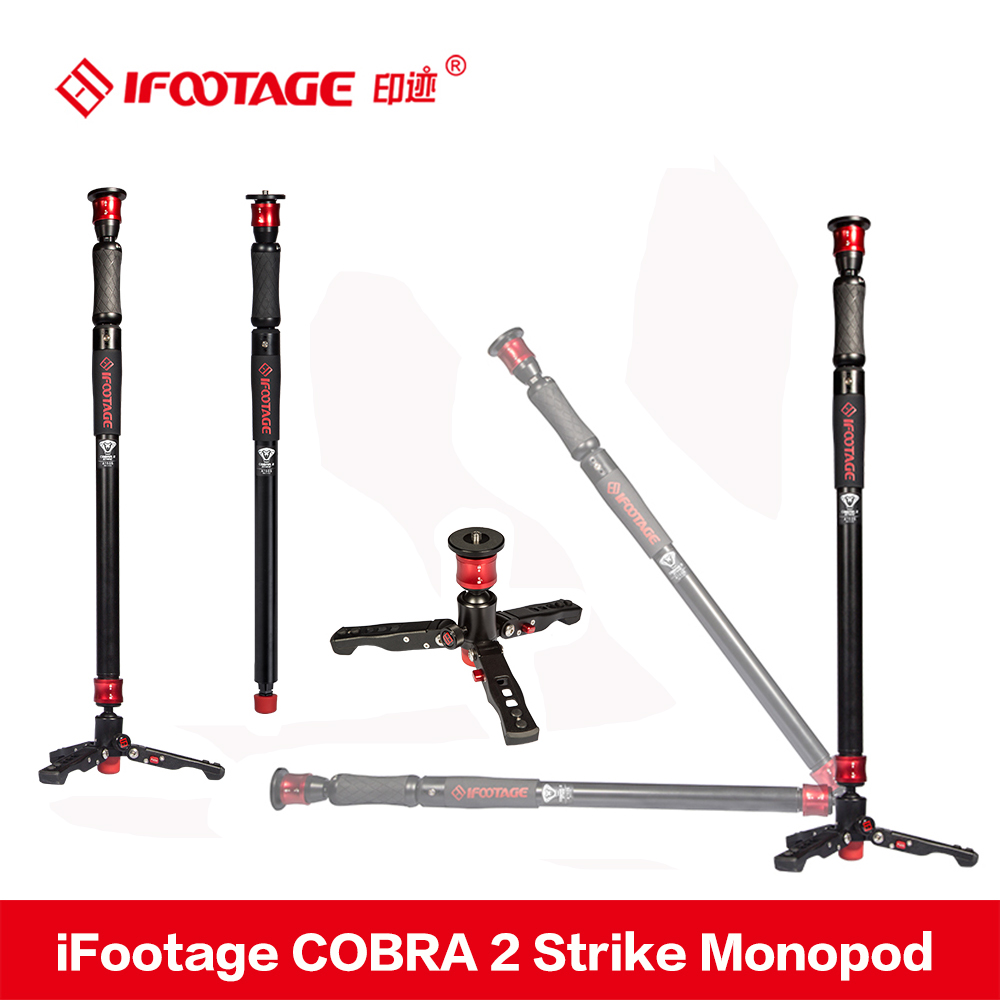 iFootage COBRA 2 Strike camera Monopod 8kg bear Portable DSLR Video Monopod with table tripod leg for Canon Sony Nikon Camera цена
