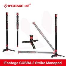 IFootage COBRA 2 Strike камера монопод 8 кг медведь портативный DSLR Видео монопод с Настольный Штатив нога для Canon sony Nikon камера