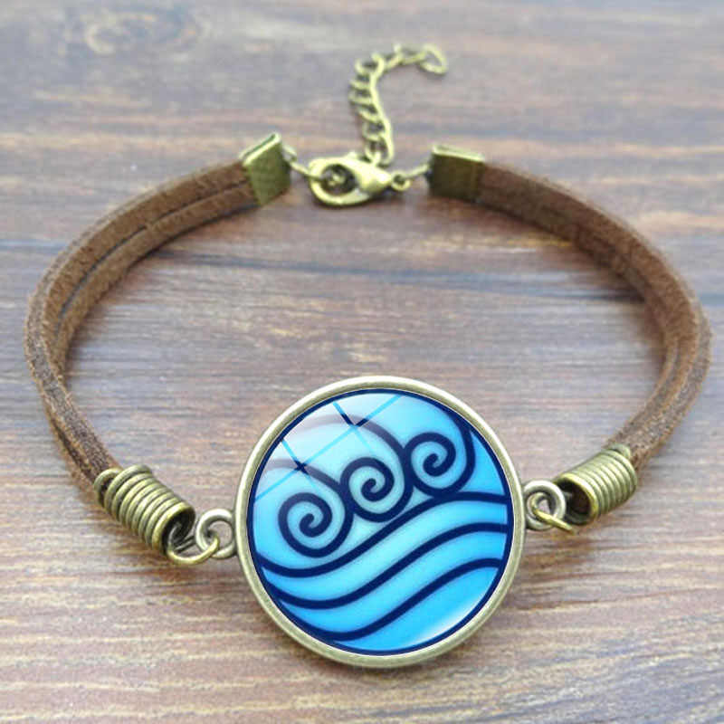 XUSHUI XJ The Last Airbender bracelets & bangles Water Tribe Avatar Glass Cabochon Charm bracelets for women Vintage Jewelry
