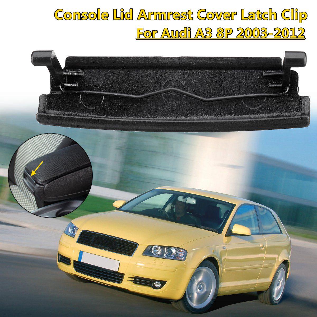 New Car Armrest Center Console Lid Cover Latch Clip Plastic For Audi A3 8P 03-12