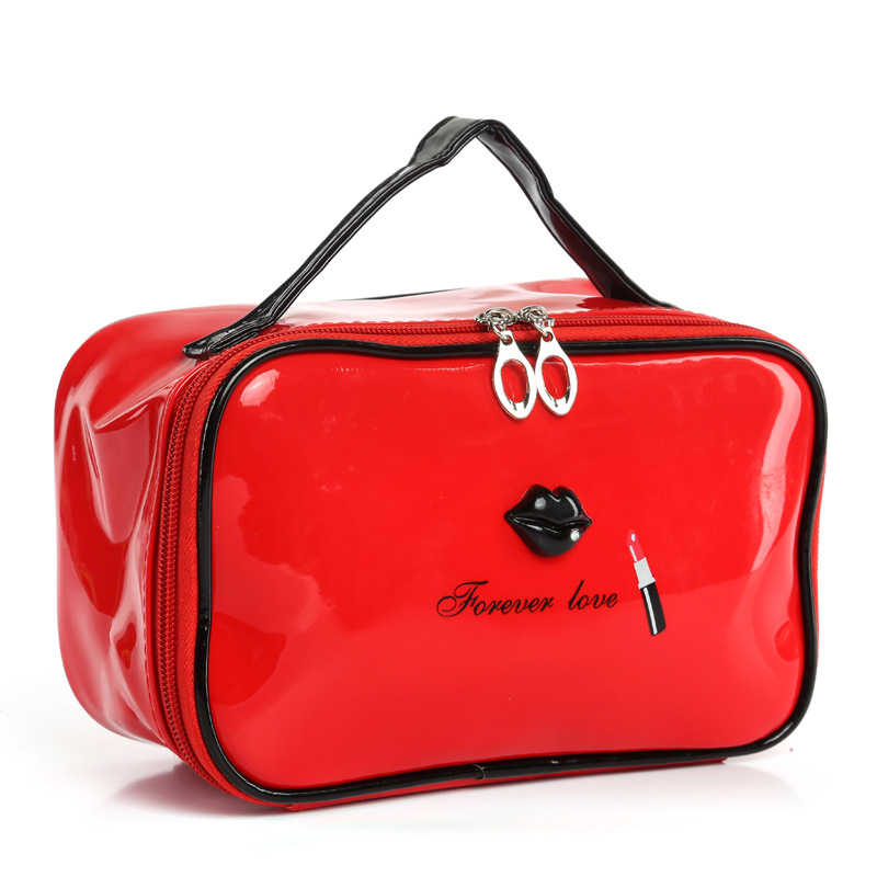 Waterproof Portable Neceser Fashion Women Travel Cosmetic Bag for Make Up Lips Makeup Bag Pouch Toiletry Case Wash Organizer fashion travel cosmetic bag makeup case portable travel pouch toiletry wash organizer trousse de maquillage for