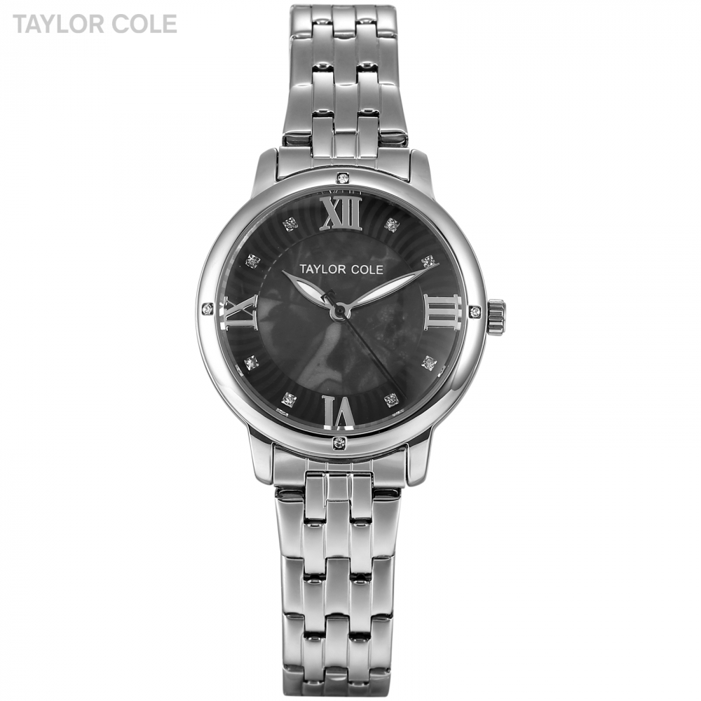 Taylor Cole Ladies Quartz Wristwatch Women Stainless Steel Band Horloges Vrouwen Clock Relogio Feminino Silver Watch Gift /TC128 taylor cole relogio tc013