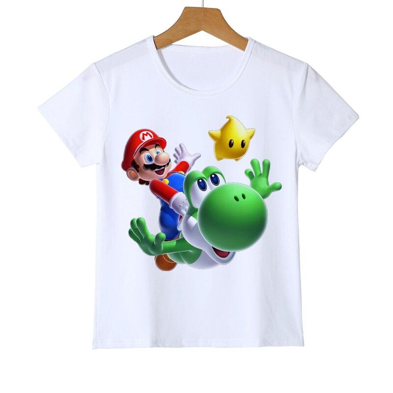 Mario Wario Boy Girl t-shirt dla dzieci 3D Super mario bros t-shirty - Ubrania dziecięce - Zdjęcie 2
