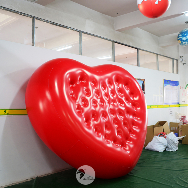 Pvc Romantic Party Carnival Inflatable Red Heart Shaped Mattress Bed Party Diy Decorations Aliexpress