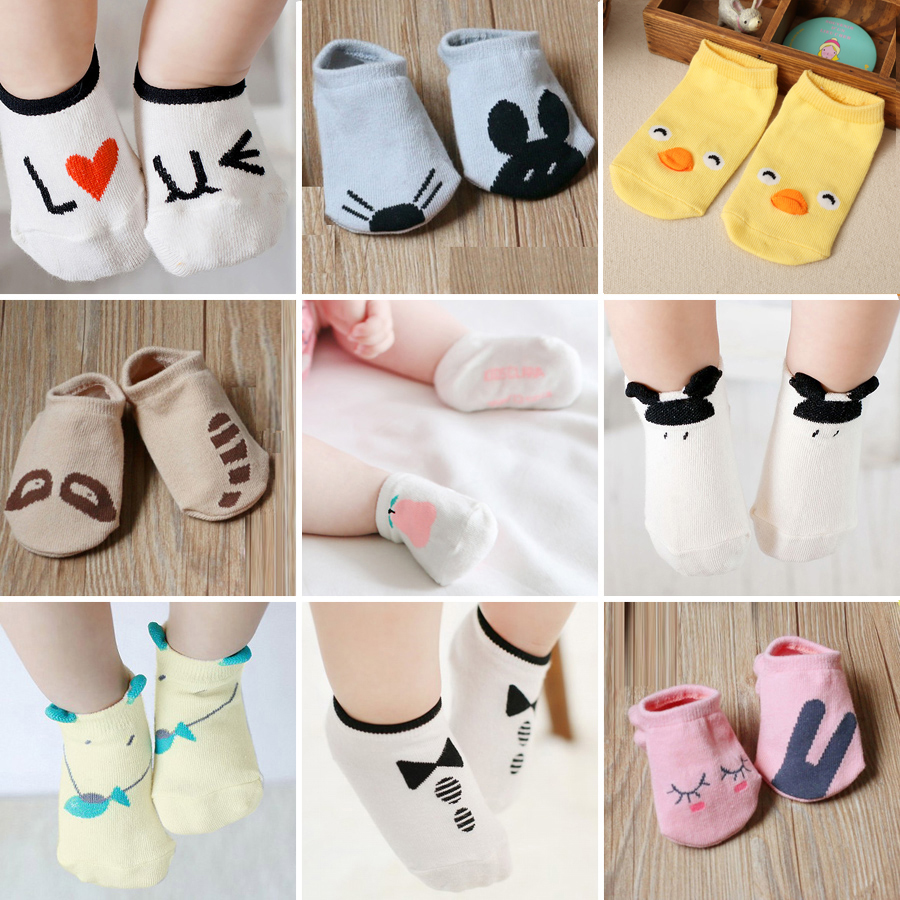 Newborn Baby Boy Girl Mesh Breathable Cotton Socks Anti Slip Infant Toddler Kids