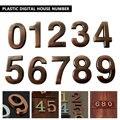 Номер ворот комнаты 0-9 1 шт современный бронзовый цвет дом отель дверь адрес табличка номер стикер с цифрами знак удобно