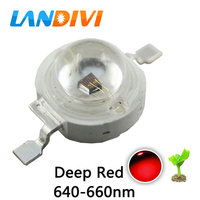 50pcs Red 3w Led 660nm Bead For Led Plant Prowing Light Source 3w High Power LED