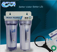 Factory direct sales,2 level Direct drinking water purifier, Pre filter water filter,granular activated carbon,PPF cotton