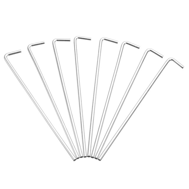 10pcs Sliver tent pegs Heavy Duty Steel Tent Pegs Outdoor C&ing Awning Metal Ground Garden Stakes  sc 1 st  AliExpress.com : metal tent pegs heavy duty - memphite.com