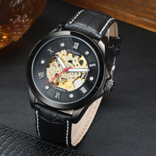 OUYAWEI Men watches automatic mechanical watch Male clock leather casual business watch top brand sports watch relogio masculino