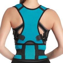 Cinturón de soporte para espalda para hombre, corsé de postura, tirantes para espalda, Corrector de postura para hombros y espalda