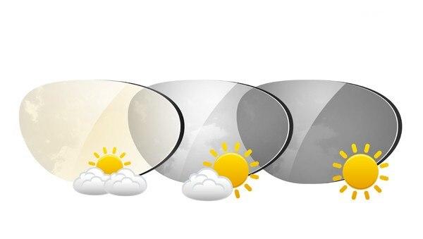 Chashma Marca Chameleon1.61 Índice Photochromic Vidro Anti UV Reflexivo Anti Scratch Lentes de Transição Cinza e Marrom para Os Olhos
