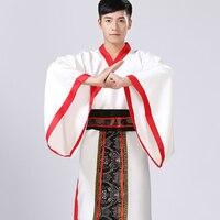 2017 Autumn Chinese National Hanfu Black Ancient China Costume Hanfu Men Clothing Traditional National Tang Suit