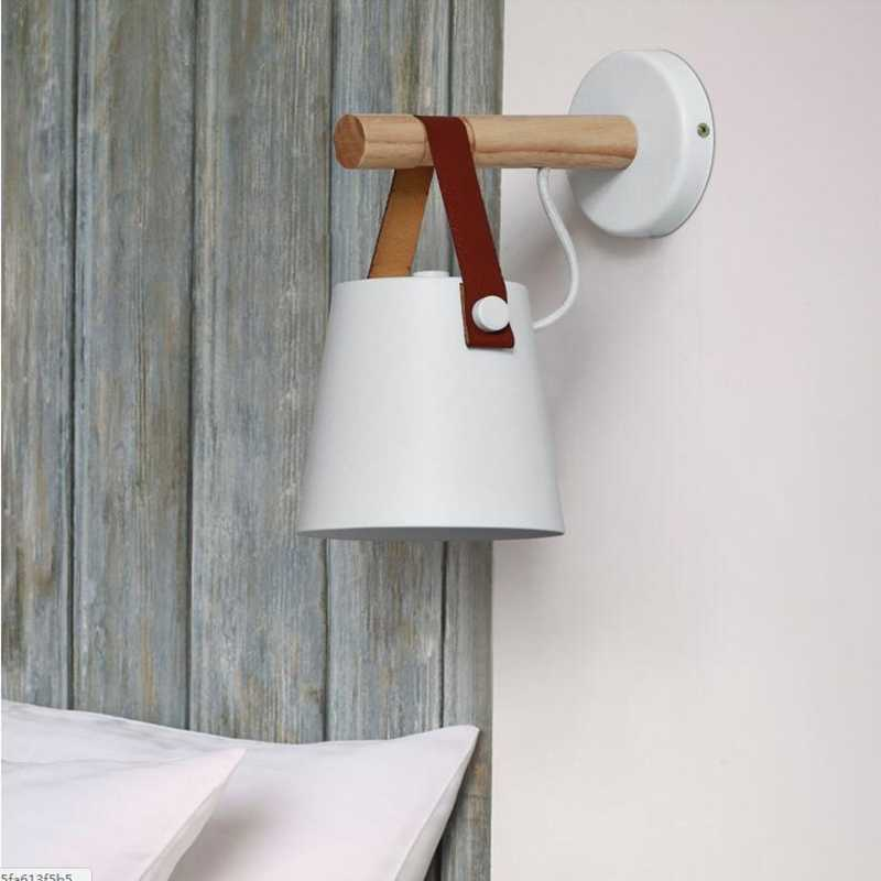 Скандинавский деревянный пояс Настенные светильники для гостиной стена в современном минималистическом стиле свет лестницы коридор Ретро Дом кабинет кафе настенный светильник