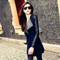 Повседневная Женщин Сшивание Тонкий Лоскутное Пальто Женские Модели Весна Куртка Парка И Пиджаки